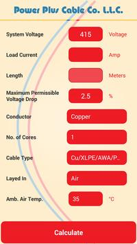 Cable size calculator apk download free tools app for android cable size calculator poster cable size calculator apk screenshot greentooth Images