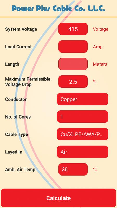 Cable size calculator apk download free tools app for android cable size calculator poster cable size calculator apk screenshot greentooth Gallery
