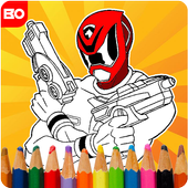 Coloring mighty Power Rangerse icon