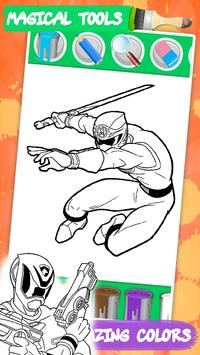 Coloring mighty Power Rangerse screenshot 10
