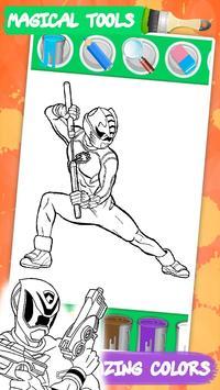 Coloring mighty Power Rangerse screenshot 3