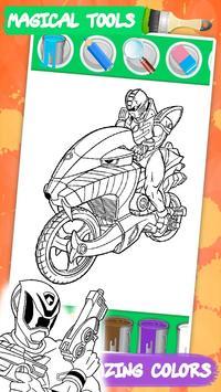 Coloring mighty Power Rangerse screenshot 9