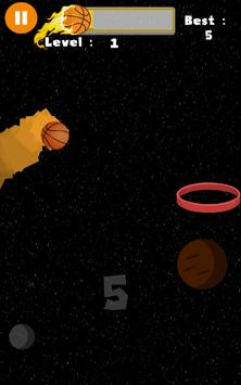 Flappy Basket Dunk (Out Space edition 2017) FREE screenshot 3