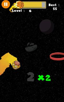 Flappy Basket Dunk (Out Space edition 2017) FREE screenshot 5