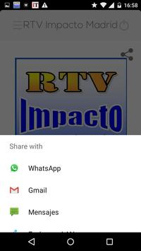 RTV Impacto Madrid apk screenshot