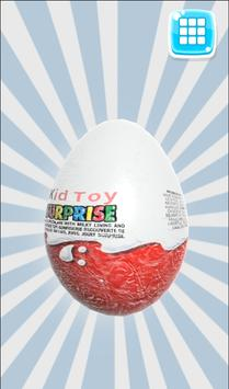 Egg with a surprise 3d poster
