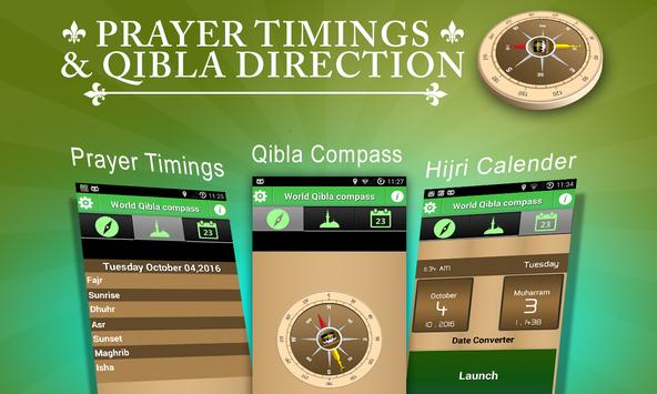 FInd Qibla Directional Compass poster