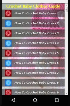 Crochet Baby Clothes Guide apk screenshot