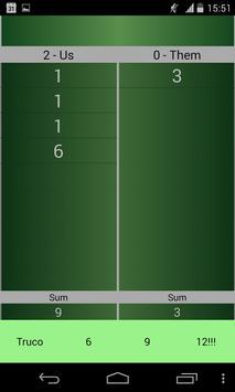 Truco Score Board apk screenshot