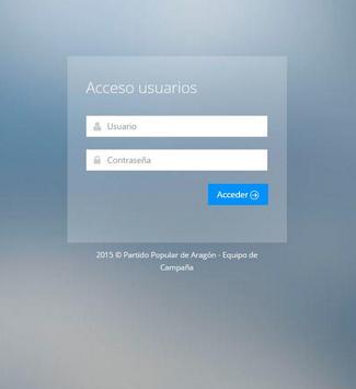 Gestor campaña PP Aragón screenshot 1