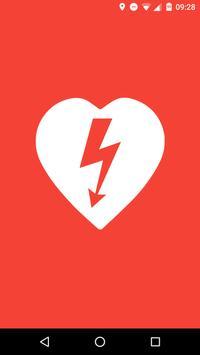 Lokalizator AED Pierwsza Pomoc poster