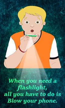 Blow Air Flashlight poster