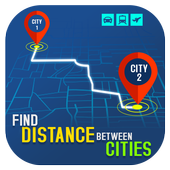 Find Distance Between Cities icon