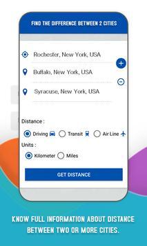 Find Distance Between Cities poster