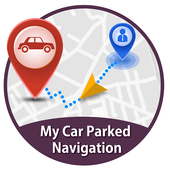 Car Park Location Navigation icon