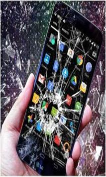 Cracked my screen 3D prank poster