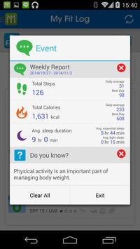 My Fit Log apk screenshot
