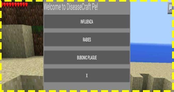 DiseaseCraft PE Mod Installer poster