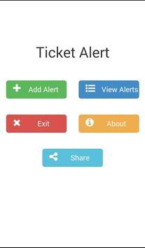 Ticket Alert poster
