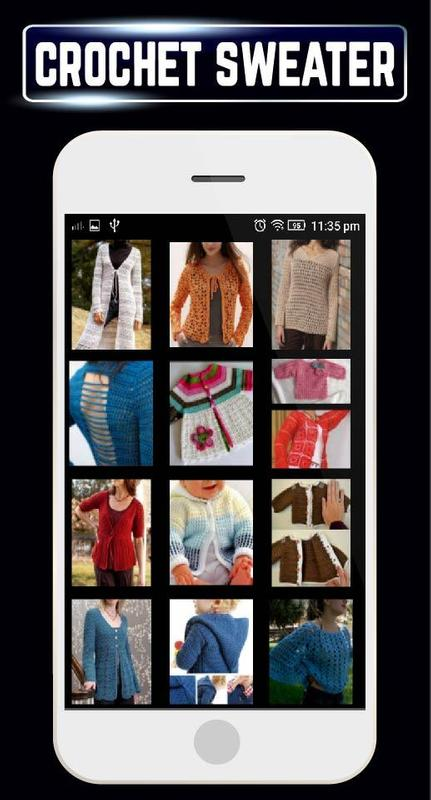 d51ab0a4e32e DIY Crochet Baby Sweater Women Cardigan Patterns for Android - APK ...