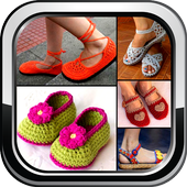 DIY Crochet Shoes Baby Booties ladies Slipper Home icon