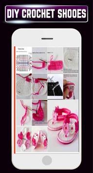 DIY Crochet Shoes Baby Booties ladies Slipper Home screenshot 4
