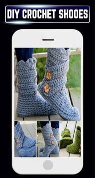 DIY Crochet Shoes Baby Booties ladies Slipper Home screenshot 1
