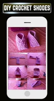 DIY Crochet Shoes Baby Booties ladies Slipper Home screenshot 3