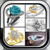 Wedding Rings Set Couple Engagement Gold Jewellery icon