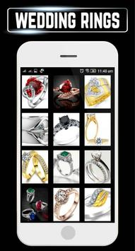 Wedding Rings Set Couple Engagement Gold Jewellery poster