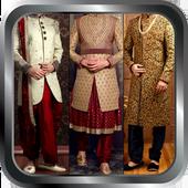 Groom Sherwani Designs Men's Wedding Suits Indain icon