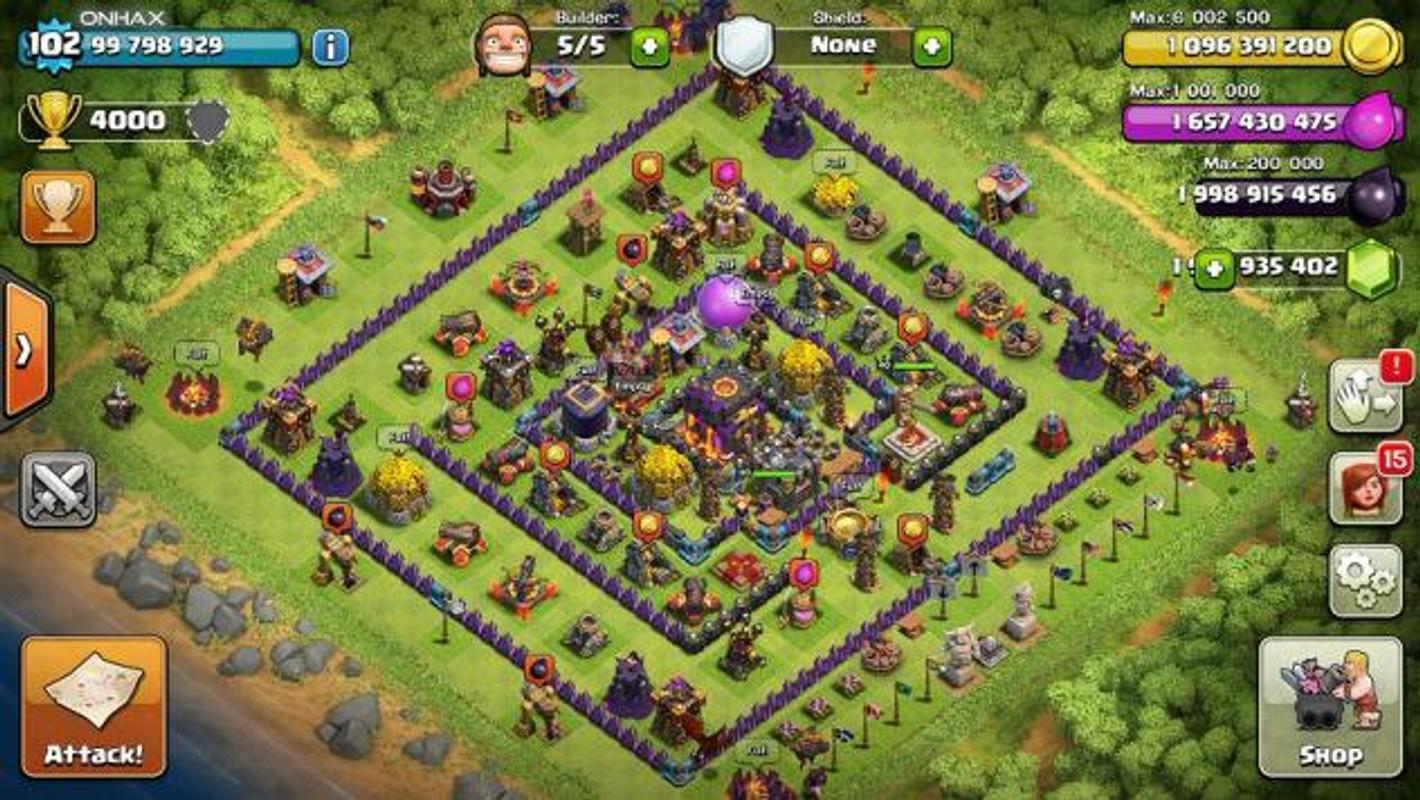 clash of clans hackeado descargar