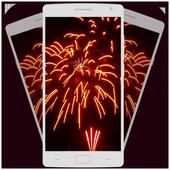Diwali fireworks photo icon