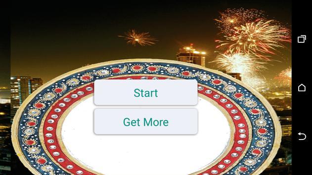 Diwali fireworks photo poster