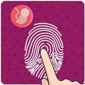 Fake pregnancy test icon