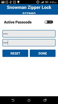Snowman Zipper Lock screen apk screenshot