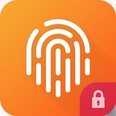 Huella Digital Desbloquear Pantalla Prank icono