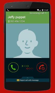 Instant Video Call Jeffy/Puppet : Simulation 2018 screenshot 1