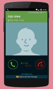 Instant Video Call Jojo/Siwa : Simulation 2018 screenshot 1