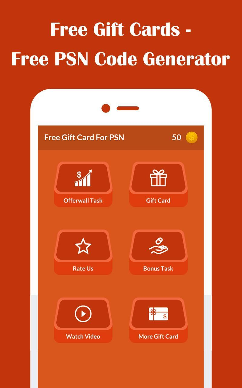 Free Gift Cards Free Psn Code Generator For Android Apk Download