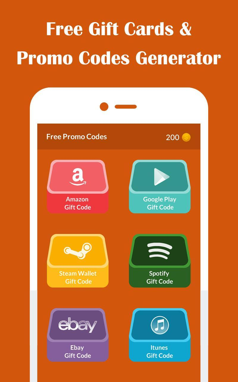 Free Gift Cards & Promo Codes Generator for Android - APK