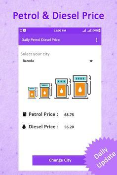 Petrol & Diesel Price in India : Real Fuel Price poster