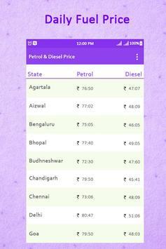 Petrol & Diesel Price in India : Real Fuel Price apk screenshot