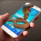 Snake on Mobile Screen Prank icon