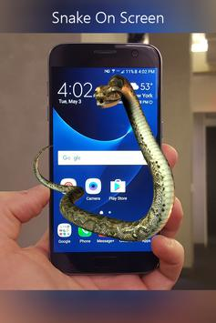 Snake on Mobile Screen Prank screenshot 5