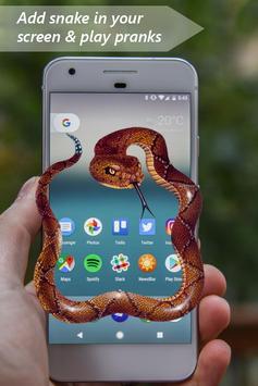 Snake on Mobile Screen Prank apk screenshot