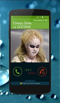 Creepy Dolls Fake Call screenshot 1