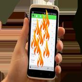 مقلب وخدعة حرق الشاشة - مزحه icon