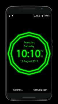 Neon Clock screenshot 1