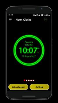 Neon Clock screenshot 2